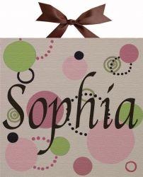 Sophia Circle Name Canvas Artwork