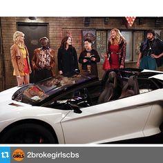 #Repost from @2brokegirlscbs  Fast and furious – Caroline gets a Lamborghini for her birthday 2nite 8/7c  #2BrokeGirls #HappyBirthday @bethbehrsreal @katdenningsss @themoywonder @jbkite