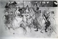 Gala at the Moulin Rouge - Henri de Toulouse-Lautrec