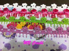 MB Crochê: Barradinhos florzinhas simples