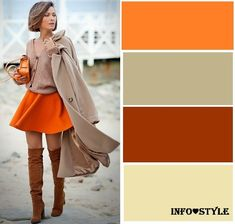 The most fashionable colors fall-winter and the best . - Color palette for clothes - Colour Combinations Fashion, Color Combinations For Clothes, Color Blocking Outfits, Fashion Colours, Colorful Fashion, Color Combos, Color Schemes, Mode Outfits, Fashion Outfits
