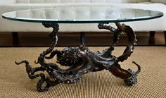 Bronze octopus coffee table by Kirk McGuire limited to only 20 castings!
