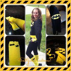 DIY Bat Girl Costume!- I would make some adjustments...