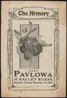 Poster 1920: Ballerina Anna Pavlova