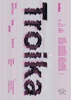 line dot area — Joonghyun-Cho, Troika seminar poster Typo Design, Web Design, Graphic Design Posters, Graphic Design Typography, Graphic Design Inspiration, Book Design, Cover Design, Layout Design, Print Design