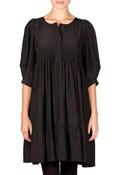 empire waist black dress