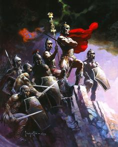 Frank Frazetta who was one of the most iconic American fantasy, science fiction and comics artists, has passed away today at the age of Frank Frazetta, Comic Book Artists, Comic Artist, Comic Books Art, Boris Vallejo, Illustrations, Illustration Art, Die Füchsin, Conan The Barbarian