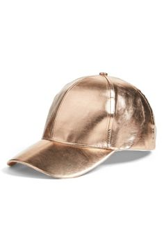 a295c3a477f Metallic Faux Leather Baseball Cap Leather Baseball Cap