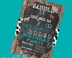 Cowgirl Birthday Invitation by EmmyJosParties on Etsy