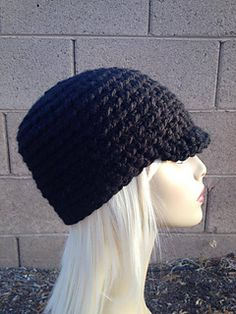 This is a very easy beanie hat with a brim worked in the round. Crochet 8bfcec6911f