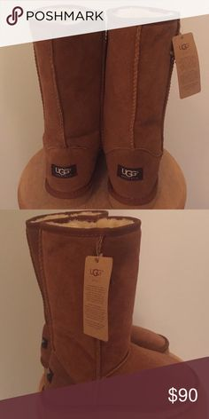 Brown Ugg Boots NEVER WORN! Tall brown Ugg Boots UGG Shoes Winter & Rain Boots