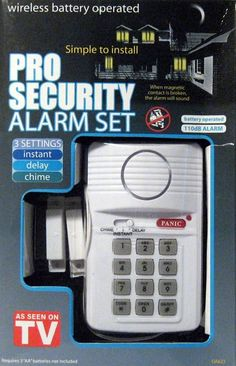 Pro Security Alarm System Home House As Seen On TV Wireless Burglar House New
