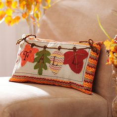 Shop all of the harvest decorations offered at Kirkland's this fall! This is your place to find all of the autumn home decor you need for your favorite season! Fall Pillows, Diy Pillows, Custom Pillows, Throw Pillows, Pillow Ideas, Cushions, Fall Sewing Projects, Harvest Decorations, Fall Quilts