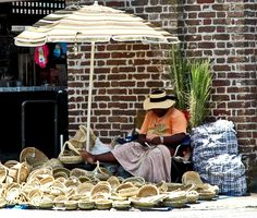 The sweetgrass basket weavers are everywhere in Charleston SC Charleston South Carolina, Charleston Sc, Crab Soup, Sullivans Island, Isle Of Palms, Mount Pleasant, Low Country, Savannah Chat, Places