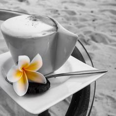 Cappuccinos on the beach ☕️