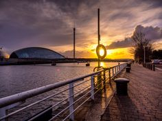 Sunset on the River Clyde - Glasgow, Scotland