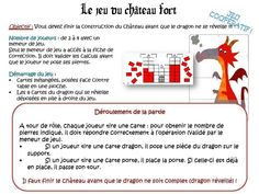 math tables de multiplication: jeu de coopération le château fort.