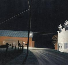 "George Ault ""Bright Light at Russell's Corners,"" 1946. Oil on canvas. Smithsonian American Art Museum,"
