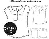 The Dimpsy T - Digital PDF T-Shirt Sewing Dressmaking Pattern