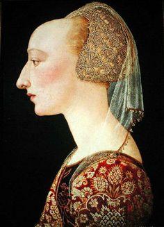 Artista florentino, Retrato de una dama de rojo, 1460-70