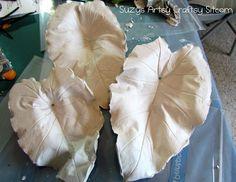 Plaster Casting Leaves Tutorial