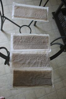 Homemade cleaning solution that is better than Swiffer. Those bottom pads are what came up with the homemade cleaner that she used after the Swiffer (top pad).