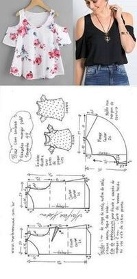 DIY - molde, corte Y costura Sewing Dress, Dress Sewing Patterns, Diy Dress, Blouse Patterns, Sewing Patterns Free, Clothing Patterns, Pattern Sewing, Sewing Tutorials, Fashion Sewing