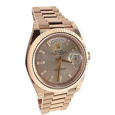 Rolex Day-date 40mm Sundust Set With Diamonds Dial Rose Gold Men's Watch 228235 - TimeOnMyHand