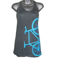 Fixed Gear Bicycle Fixie Bike Shirt Female by iheartanalogue, $20.00