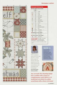 Homespun Cozy Christmas cushion chart1