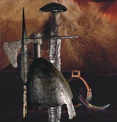 Armor set - finds from Ostrów Lednicki, Poland. Culture: Slavic (West Slavs - early Polish state) Timeline: c. 10th-11th century