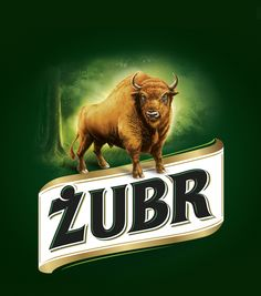 Żubr beer label