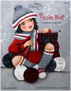 Accueil Peinture décorative sur bois - Patron, pièce de bois, pinceaux, peinture,accessoires Winter Theme, Winter Hats, Norman Rockwell Art, Dope Art, Chalkboard Art, Tole Painting, Cartoon, Knitting, Drawings