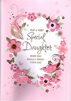 Sparkling Butterflies Happy Birthday Card For Daughter Dazzle Your