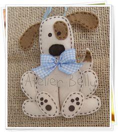 Spotty eye dog in felt.  Atelier Belly: Novidades.........2012
