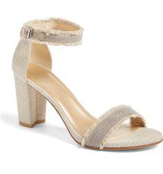 Main Image - Stuart Weitzman 'Chaingang' Ankle Strap Sandal (Women)