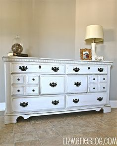 Great directions to antique furniture   http://www.lizmarieblog.com/2011/10/antique-white.html