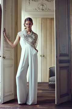 Chic wedding jumpsuit // BHLDN's Spring Collection 2016 in Collaboration With Marchesa
