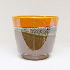 Pot bruin en oranje | Bloempotten | de Rommelkoning