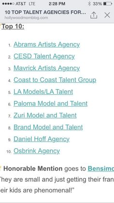 top la/oc child talent agencies