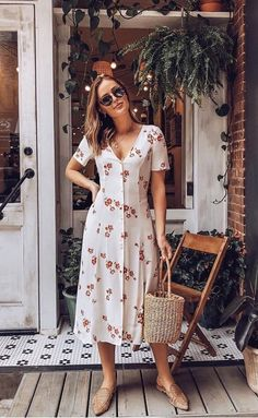 25 Gorgeous Summer Outfits To Try Now Stylish Dresses, Casual Dresses, Fashion Dresses, Simple Dresses, Vintage Dresses, Vintage Outfits, Summer Dress Outfits, Kurta Designs, Trendy Fashion