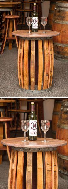 Wine barrel end table #furniture_design