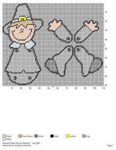 Thanksgiving Crafts, Fall Crafts, Holiday Crafts, Plastic Canvas Crafts, Plastic Canvas Patterns, Craft Patterns, Crochet Patterns, Superhero Template, Pilgrims And Indians