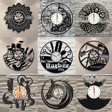 Retro Exclusive Animals Wall Clock Made of Vinyl Record Home Hanging Decor GIFT Vinyl Record Crafts, Vinyl Records, Shocking Games, Music Room Art, How To Make Wall Clock, Vinyl Projects, Home Crafts, Diy Crafts, Wall Design