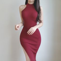 Pin by Bliss on Outfits in 2019 Pretty Dresses, Sexy Dresses, Evening Dresses, Casual Dresses, Fashion Dresses, Korean Outfits, Mode Outfits, Dress Outfits, Girl Outfits