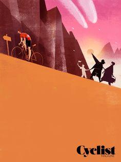 """Last standing man"" Illustration for Cyclist Mag  Riccardo Guasco 2014"
