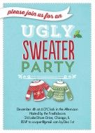unique ugly sweater party invites for your Christmas celebration offered by Holiday-Invitations with big savings and discounts on invites as low as 79¢
