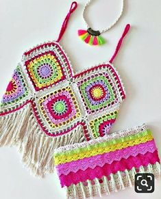 Crochet summer tops boho necklaces 17 New ideas Beau Crochet, Mode Crochet, Hand Crochet, Bikini Crochet, Crochet Crop Top, Cardigan Au Crochet, Crochet Cardigan, Crochet Summer Tops, Crochet For Kids