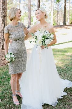 Silver Mother Of The Bride Dress By Tadashi Shoji