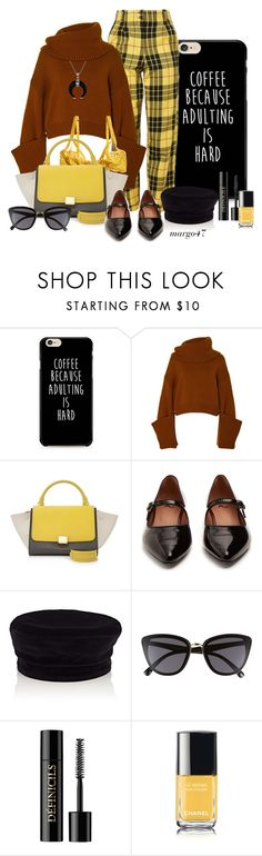 """krata"" by margo47 ❤ liked on Polyvore featuring Monse, CÉLINE, AlexaChung, Janessa Leone, BP., Lancôme, Chanel and Bling Jewelry"